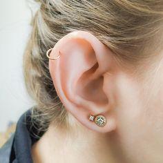 Helix Cartilage Earrings, Ear Piercings Cartilage, Stud Earrings, Ear Peircings, Helix Hoop, Ear Jewelry, Jewlery, Rose Gold, Note
