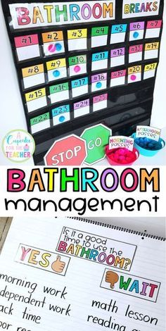 Bathroom Rules & Management Kit (EVERYTHING You Need!) - Bathroom management ideas for the classroom! Rules and expectations, anchor charts, ways to track and reduce bathroom breaks! Classroom Behavior Management, Classroom Procedures, Classroom Rules, Classroom Community, Future Classroom, School Classroom, Classroom Organization, Classroom Themes, Classroom Bathroom