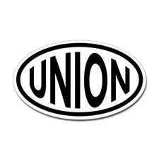 Union Oval Sticker for