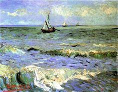 Vincent van Gogh -Seascape at Saintes-Maries, France 1888.