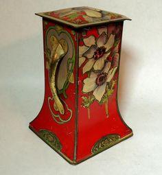 Carr & Co Art Nouveau biscuit tin