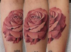 Not for myself you understand, I don't think I'm man enough to pull off a pink rose tattoo... but it has to be said John Anderton has some serious skill.