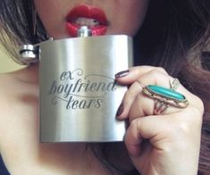 Ex Boyfriend Tears Flask