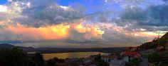 Panorama del Lago d'Annone da Civate: giugno, arriva il temporale