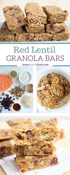Red Lentil Granola Bars - The unexpected addition of red lentils gives these vegan granola pars tons of protein, but the taste goes unnoticed! | healthy vegan recipe | vegan granola bar recipe | healthy snack idea | vegan protein bar recipe |