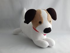 Jack Russell Terrier Plush Toy Dog Stuffed Animal by SockSockWorld