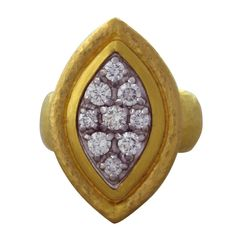 GURHAN Gold  Diamond Ring | From a unique collection of vintage more rings at http://www.1stdibs.com/jewelry/rings/more-rings/