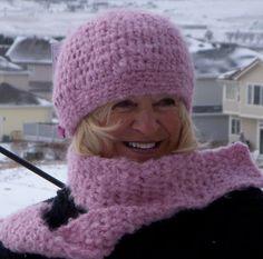 Pink Hat Scarf Winter Crochet Original by hatsbyanne1942 on Etsy, $58.00