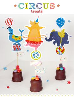 free printable circus treats