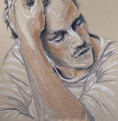 """Saatchi Online Artist: Yuliya Vladkovska; Acrylic 2013 Painting """"oh, man, I'm tired.."""""""