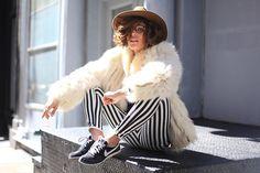 Stripes and Fur (by Christina Caradona) http://lookbook.nu/look/4736169