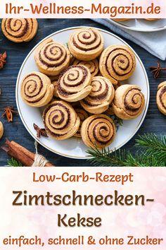 Zimtschnecken-Kekse: Gesundes Low-Carb-Rezept für Weihnachtsgebäck ohne Zucker. Schnelle, einfache Zimt-Plätzchen mit Mandelmehl, Mandeln und Haselnuss-Füllung. Eine zuckerfreie, kohlenhydratarme, kalorienreduzierte Variante des verführerischen Keks-Klassikers ... Baking Recipes, Vegan Recipes, Healthy Breakfast For Weight Loss, Tasty, Yummy Food, Pumpkin Recipes, Bakery, Sweet Treats, Food And Drink