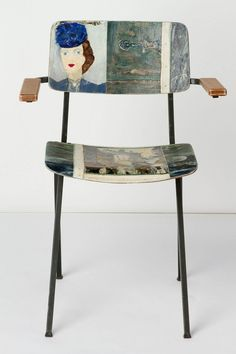 #Reducir, #Reciclar y #Reutilizar  Muebles reciclados: sillas originales baratas pintadas con motivos