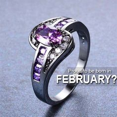 Now available on store. Check it out: http://www.0stees.com/products/february-birthstone-oval-ring?utm_campaign=social_autopilot&utm_source=pin&utm_medium=pin
