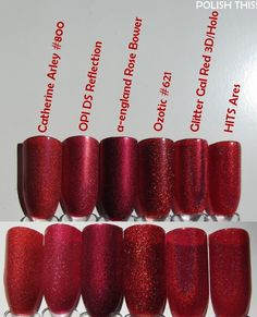 Polish This!: Huge Holo Comparison part 2: Reds, Pinks and Nudes