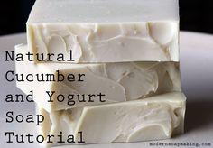 Natural Cucumber and Yogurt Soap Tutorial