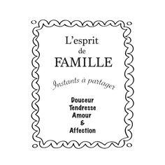 esprit de famille decoration stickers plaque de cuisine style r tro d coration