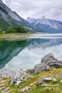 Medicine Lake in Jasper National Park, Canada