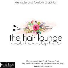 Hair Stylist Logo Premade Logo for Hair Stylist Watercolor