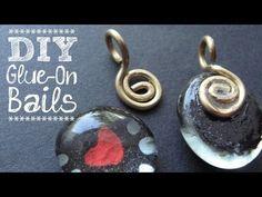 ▶ DIY Bails - How to Make Glue-on Bails for Scrabble Tile Pendants, etc - YouTube