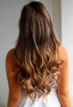 Dark to light ombre hair. This is one idea I might do in two weeks!