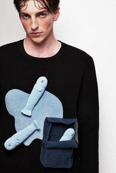 YII | AW14 Knit Fashion, Boy Fashion, Mens Fashion, Fashion Trends, Fashion Ideas, Knitting Humor, Jackett, Men Street, Fashion Details