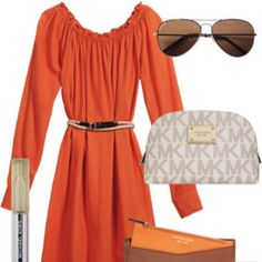 Loving the orange dress!