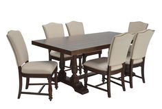 Arlo 7 Piece Upholstered Dining Set