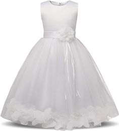NNJXD Girl Tutu Flower Petals Bow Bridal Dress for Toddler Girl: Clothing for wedding and this is the best baby dresses Dress For Girl Child, Toddler Flower Girl Dresses, Baby Girl Dress Patterns, Girls Party Dress, Flower Dresses, Toddler Dress, Girls Bridesmaid Dresses, Bridal Dresses, Halter Dresses