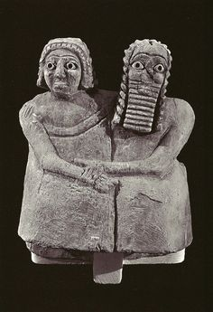 Sumerian devotional statue dating to 2600 B.C.E. of what scholars believe is a married couple