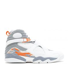 787e8efba5d16c Air Jordan 8 Retro White Stealth Orange Blaze Silver 305381 102. Sale ...