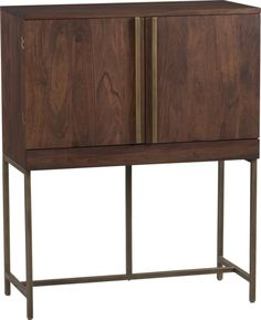 Bourne Bar Cabinet $999.00 Love this. This is the piece from the moodboard. It's on the higher $$ end, but it really is something special. Plus, there is no need for any other bar accessories- it has everything inside!