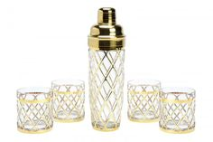 Gorgeous gold and glass cocktail set by Joseph Altuzarra for the Target//Neiman Marcus collection!