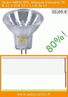 Osram 46892 WFL Ampoule Halogène 35 W 12 V GU4 10 x 1 Lot de 10 (Housewares). Réduction de 80%! Prix actuel 10,69 €, l'ancien prix était de 54,46 €. https://www.adquisitio.fr/osram/decostar-35-titan-lampe