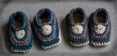 Free pattern: crocheted baby mocs (3-6 months)