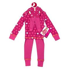 The Our Generation Me & You Outfit - Pajama Hearts turns every night into a slumber party. The super-cute mix of patterns and comfy, blended cotton fabric are sure to make these PJ's a favorite for her and her pint-size bestie. Kids Outfits Girls, Toys For Girls, Cute Baby Clothes, Doll Clothes, Our Generation Dolls, Baby Diaper Bags, Pajama Top, Pajama Pants, Occasion Wear