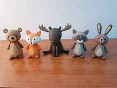 65 Ideas Cake Decorating Animals Woodland Creatures For 2020 Fondant Figures, Polymer Clay Animals, Polymer Clay Crafts, Woodland Creatures, Woodland Animals, Woodland Cake, Friends Cake, Novelty Birthday Cakes, Fondant Toppers