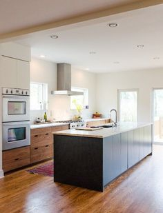 Love the drawers, this is an Ikea kitchen and I think the drawers came from Semihandmade