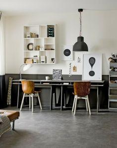 industrial interior met betonlook vloer