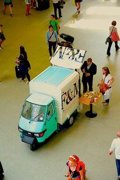 Fortum & Mason tea truck (at London St Pancras Station)