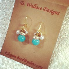 Antique jade, pearls and crystals, by D. Wallace Designs