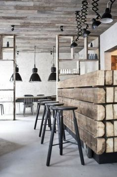 Bar - Industrieel - Steigerhout