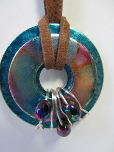 Washer NecklaceMetal Washer Necklace Beaded by SalvageSistersMNWI, $15.00