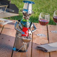 Grillmester vinholder. Skab ekstra hygge på terrassen når du sidder og griller.