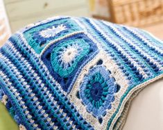 Granny Square Crochet Blanket, free pattern by Helen Ardley. Thanks so for lovely share xox