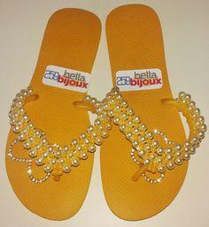 flip flop decor, havaiana decorada, chinelo decorado