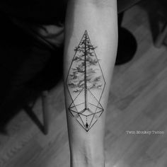 """good timber do not grow with ease, the stronger the wind the stronger the tree""                      -thomas s monson- #twinmonkeytattoo #tattoo #tattooart #pine #tree #geometric #tattoos #blxckink #bw #tattoooftheday #dotwork #tattoolife #instatattoo"