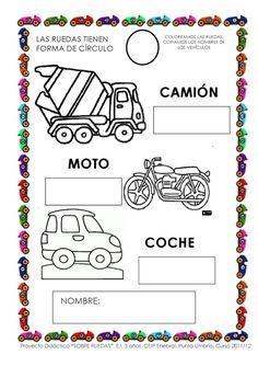 Proyecto de trabajo para el nivel de 3 años en Educación Infantil sobre medios de transportes con ruedas.