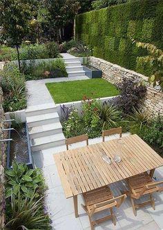 Arredare un giardino piccolo - Giardino multilivello #Moderngarden