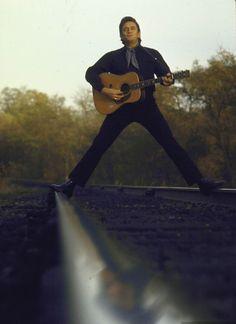Johnny Cash ridin' the rails.